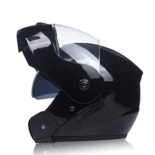 Ocamo Casco Unisex Flip Up Racing Casco Modular de Doble Lente para Mo