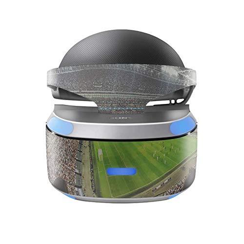 Skins4u Aufkleber Design Schutzfolie Vinyl Skin kompatibel mit Sony PS4 Playstation 4 VR Brille Fussball Stadion