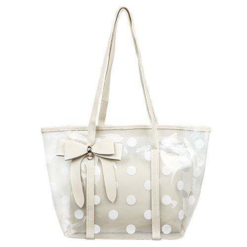 Shidan FM8 Damen Wasserfeste Durchsichtige Einkaufstasche Reise Strand Handtasche...