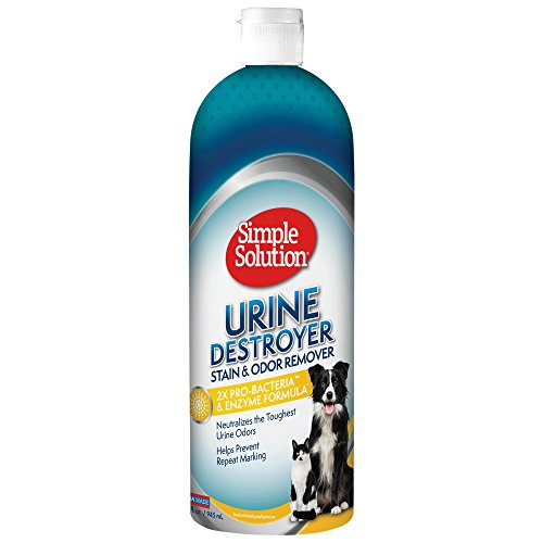 Simple Solution Urine Destroyer Enzymatic Cleaner | Pet Stain and Odor Remover with 2X Pro-bacteria Cleaning Power | 32 Ounces