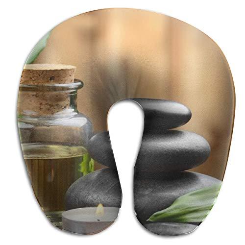 Almohada en Forma de U, Cuello asiático, Masaje Zen, Piedra, Viaje, Almohada Multifuncional, Coche, avión