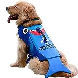Dog Life Jacket Large,Dog Life Vests for Swimming, Lifejacket Lifesaver Lifeguard Life Vest for Small Medium and Large Dogs, Cute Shark Turtle Or Lobster Shape, Dog Sports Floating Jackets, Adjustable