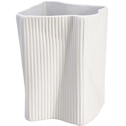 la chaise longue Vaso Pieghettata Bianco Ceramica