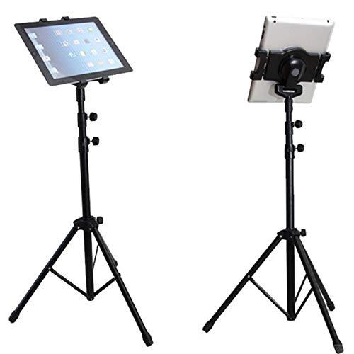 Tianhaik Universele Statiefstandaard Voor 7-10 Inch Tablets Opvouwbare Vloer Tablet Statiefstandaardhouder Uitschuifbaar 17-57. 5 Inch Verstelbaar Voor Selfie Live-Uitzending Video Kijken