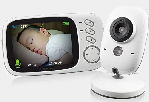 Câmera 3.2 Polegadas De Vídeo Sem Fio - Babá Eletrônica Monitor Do Bebê - Visão Noturna