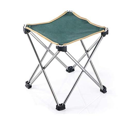 NYDZDM opklapbare kruk, draagbaar, ultralicht aluminium legeringsframe, camping-klapkruk, inklapbare Oxford-anti-slip voetenbank voor buiten