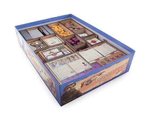 The Game Doctors Organizador de Juegos de Mesa Compatible con Los Viajes de Marco Polo y expansiones Agentes de Venecia y El Nuevo Personaje