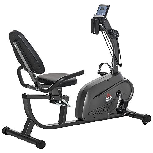 HOMCOM Fitness Recumbent Bike Magnetic Resistance Exercise Bike Stationary...