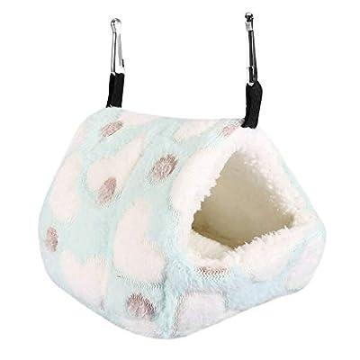 Mumusuki Warm and Cosy Winter Warm Soft Pet House Cage Bed for Hammock Squirrel Totoro Rabbit(14 * 12-Blue) by Mumusuki