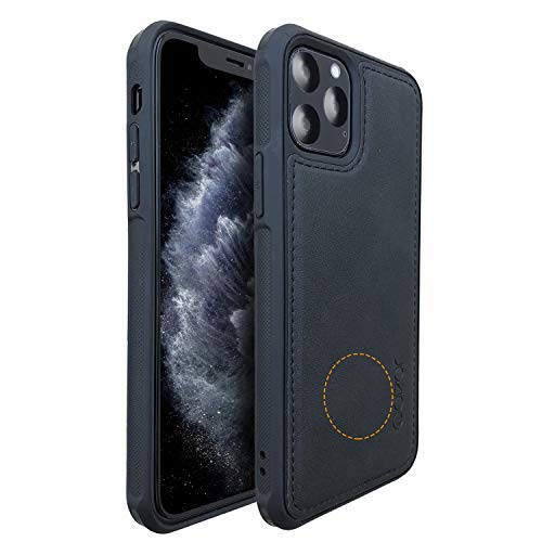 Molzar MAG Series iPhone 11 Pro Case, Built-in Metal Plate for Magnetic Car Phone Holder, Support Qi Wireless Charging, Compatible with iPhone 11 Pro, Black