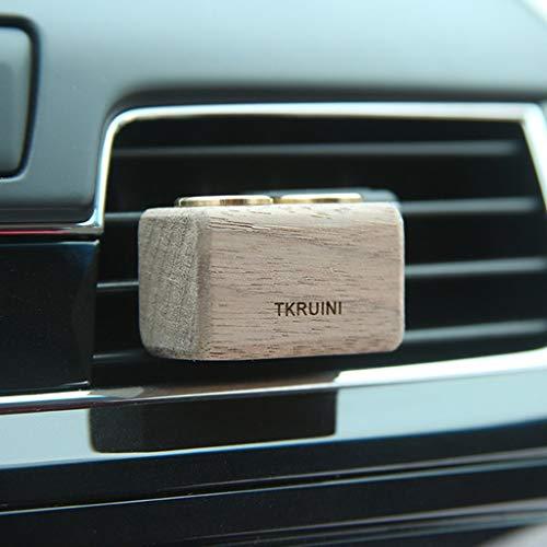 WZJ-Car Parfüm Auto Parfüm Aufbewahrungsbox New Car Air Outlet Kreative Klimaanlage Holz Aromatherapie Dekorationen (Produkt enthält kein Parfüm)