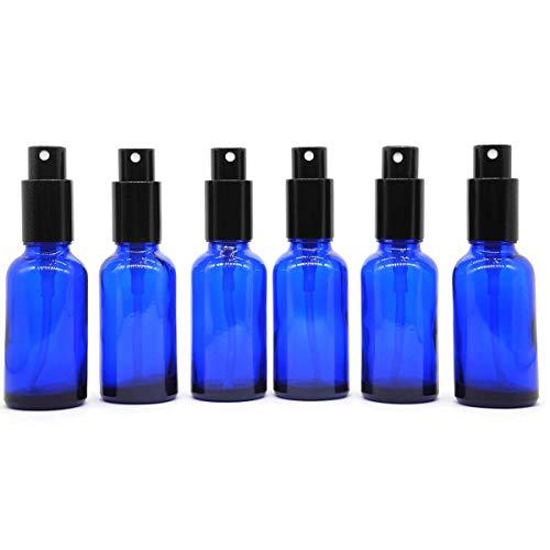 Yizhao Blau Leer Sprühflasche Glas 30ml mit [zerstäuber], Sprühflasche Klein für Ätherisches Öl,Aromatherapie-Gemische,Parfüm,Massage,Chemische Flüssigkeit,Apotheker, 6 Stück, Blau