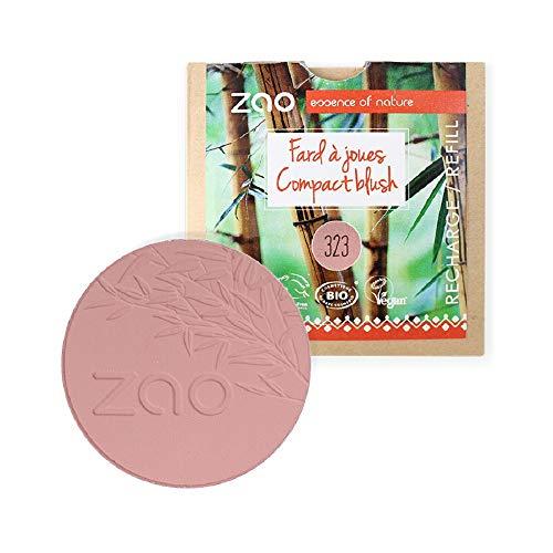 ZAO REFILL Compact Blush 323 dunkel-lila Rouge-Nachfüller (bio, Ecocert, Cosmebio, Naturkosmetik)
