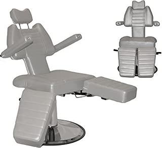 InkBed InkChair Tattoo Reclining Sturdy Hydraulic Ink Chair Salon Studio Equipment - Grey