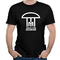 メンズインフェクテッドマッシュルームコットンTシャツ5XL