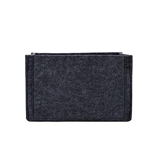 Winter & Co. Taschenorganizer Stoff Handtaschenordner Taschen Organisator | In 5 Farben 3 Größen M L XL | Leicht, Weich Und Biegsam | Bringt Ordnung Und Übersicht In Deine Tasche (Grau, Large)