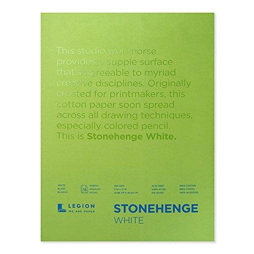 Legion Stonehenge Pad, 9 X 12 inches, White, 15 Sheets (L21-STP250WH912)