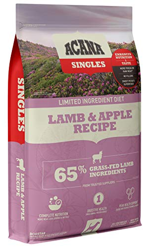 Acana Singles Limited Ingredient Dry Dog Food, Grain Free, High Protein, Lamb & Apple, 13lb