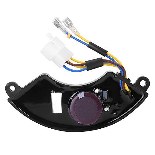 AVR Regulador de Voltaje Automático Ajustable Universal en Forma de Arco para Generador de Gasolina 6,5KW / 7KW / 8,5KW 2 Fases 6 Hilos