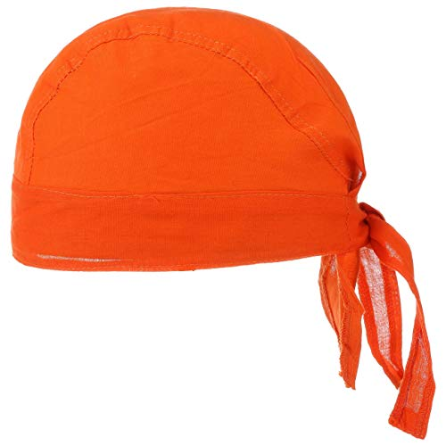 Baumwoll Bandana Corsaire Damen/Herren - Kopftuch aus Baumwolle - Sommer/Winter - Piratentuch orange