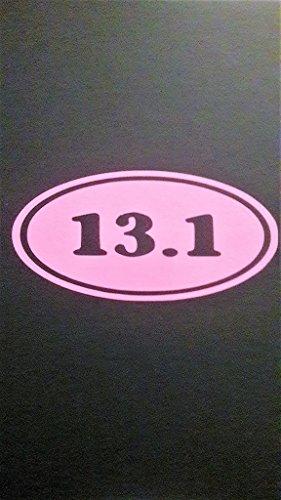 Chase Grace Studio Calcomanía de Vinilo para la Mitad del maratón de 13,1 | 2 Unidades | Rosa | Coches Camiones Vans SUV Portátiles Arte de Pared | 5 Pulgadas x 2. 5 Pulgadas | CGS507