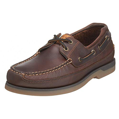 Sperry Top-Sider Mens Mako 2-Eye Canoe Moc Lace-Up,Amaretto,9 US