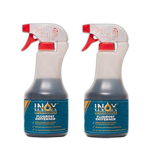 INOX® Flugrostentferner Auto 2 x 500ml - Entfernen von Flugrost auf der Lackoberfläche | Rostentferner für Autolacke - entfernt Flugrostrückstände, kleine Rostflecken & Industriestaub