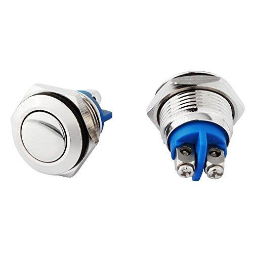 Fangxin 2 stuks metaal 16 mm belknop drukknop claxon claxon deurbel bel bel belknop