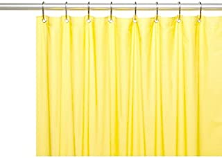 DINY Bath Elements Heavy Duty Magnetized Shower Curtain Liner Mildew Resistant Yellow