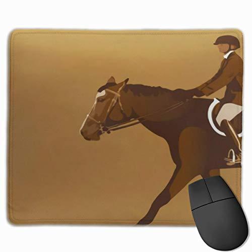Gaming Mouse Pad, personalisierte benutzerdefinierte Maus Padnon-Slip Gummi Gaming Mouse Pad, bleiben Sie positiv, arbeiten Sie hart und machen Sie es möglich Brown Derby Pferdesport Reiter Horse Jump