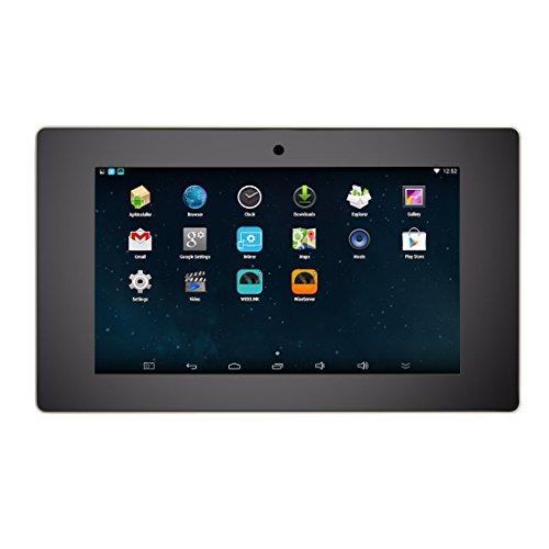 """HELMER WiFi Amplificatore a Parete, Sistema Audio Stereo Android con Lettore Video Touch Screen da 5"""", Nero, BM207A"""