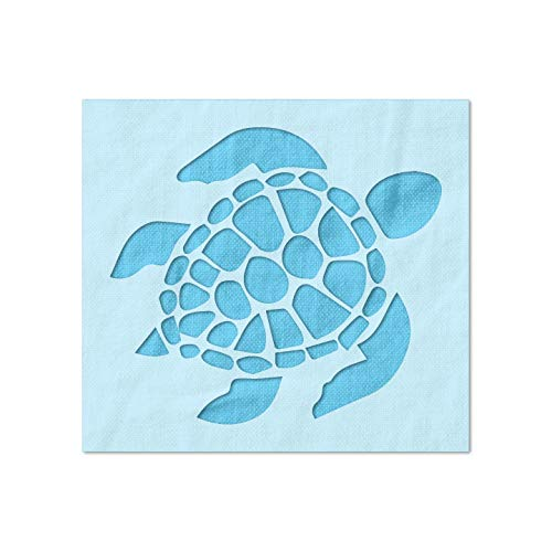 Stencil Stop Turtle Stencil - Reusable for DIY Projects, Painting, Drawing, Crafts - 14 Mil Mylar Plastic (2 x 1.79 inches)