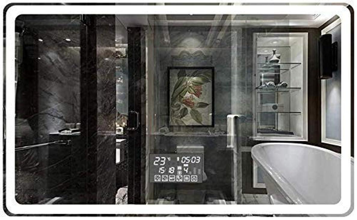 専らコンデンサーリットルCLJ-LJ ホームスマートミラータッチスクリーンウォールライトメイクアップミラー付き防爆防曇HDハンギングバスルームミラーウォールマウント