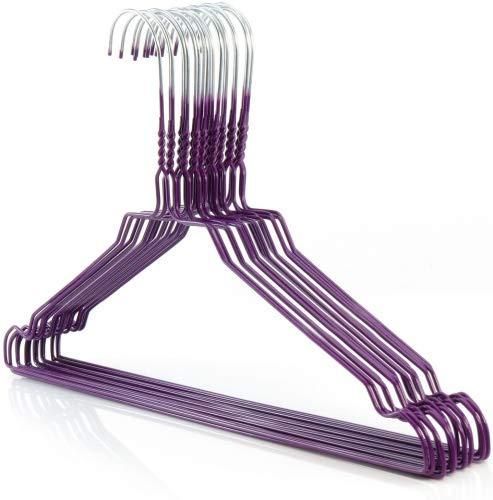 ASIS nettrade - Grucce appendiabiti in filo di ferro, 40 cm, 20 pezzi, colore: Viola