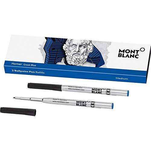 Montblanc Writers Edition Greek Blue Lot de 2 recharges pour stylo à bille 118204