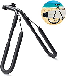 WonVon Surfboard Bicycle Rack,8 Inch 25-32mm Surf Holder – Bike Board Carrier Walk-Board Bike Holder Bicycle Surfing Carrier Mount Bicycle Accessories