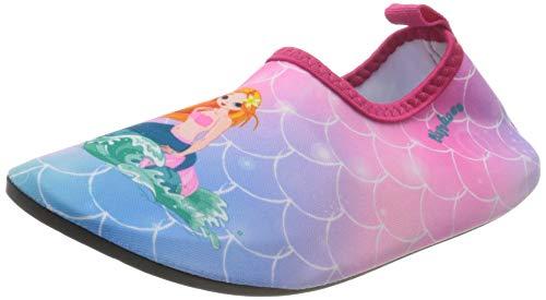 Playshoes Unisex dziecięce buty na boso syrenkę wodną, różowy - Różowy 18-20/21 EU