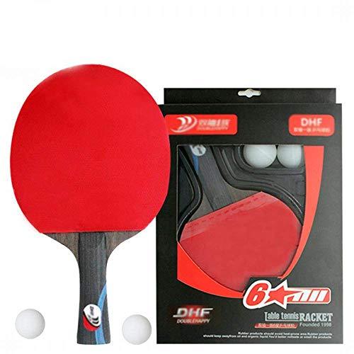 FEOPW Tischtennisschläger Preis In High-End-Boden Professionelle Horizontal Pingpong Board 1 Beat 2 Balls tischtennisschlaeger Jugend (Size : 28 * 16cm)