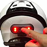 VERSATTA LED Motorcycle Helmet Light, Bike Bicycle Rear Red Safety Light, Warning Tail Lights, Helmet Light for Night Riding with USB Chargeable Cable