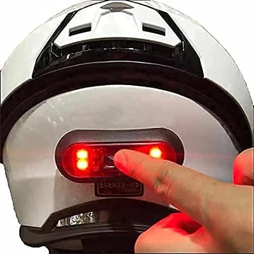 VERSATTA LED Motorcycle Helmet Light, Bike Bicycle Rear Red...