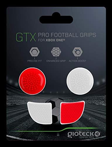 Gioteck - Gtx Xb1 - Funda Protectora de Silicona para Mando Xbox One, Protección para Joysticks, Antideslizante, Precisión Grips para Xbox One Blanco y Rojo (Xbox One)