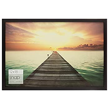 Snap 10FW1569E Solid Wood Wall Poster Picture Frame 12  x 18  Black