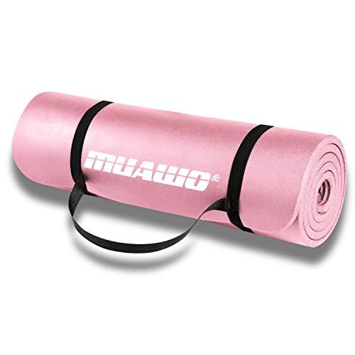 Premium Sportmatte und Fitnessmatte, perfekt als Yogamatte, Gymnastikmatte, Trainingsmatte - rutschfest, Extra-dick, Extra-lang - Schadstofffrei - 190 Länge x100 Breite x1,35 cm dicke - Rosa