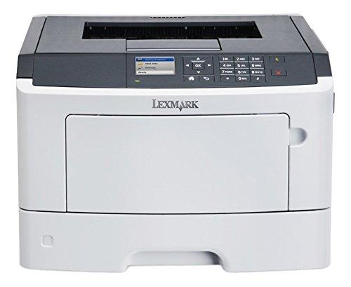Lexmark MS510dn - Impresora láser (B/N 42 PPM, A4, 1200 x 1200 dpi), Blanco y Gris