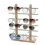 Justdolife Soporte De Exhibición De Los Vidrios Gafas De Sol Creativas De Madera con Soporte para Gafas