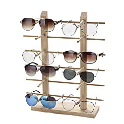 Justdolife Brillenständer Kreative Holz Sonnenbrille Rack Brillenständer