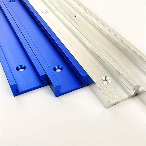 T-Tracks - Guía de inglete (aluminio, 300-800 mm, carril en T, ranura en T)