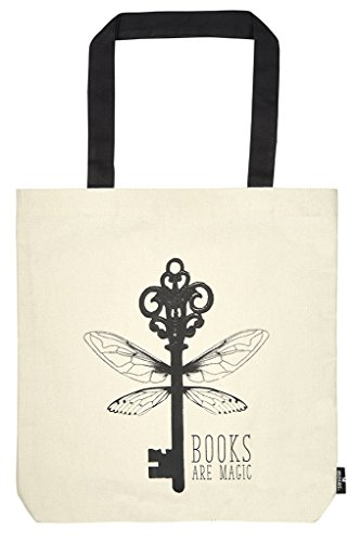 moses. libri_x Shopper Books are magic | Tragetasche 100% Baumwolle | Natur