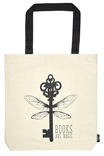 moses. libri_x Shopper Books are magic | Tragetasche 100{69abc54c2fc505458eb3b2801cb40654b8c2afd4b51425e50660d3cde975e737} Baumwolle | Natur