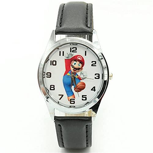 Super Mario reloj nueva llegada Super Mario niños lindo reloj de los niños deportes para las niñas niños regalo cuero niños relojes de pulsera
